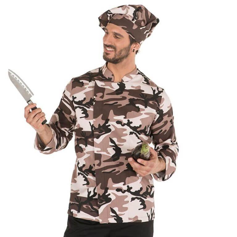 Chaqueta de cocina gary 39 s camuflaje chaquetas de trabajo for Chaquetas de cocina originales