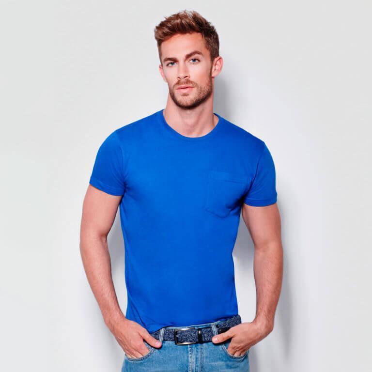 Camiseta con bolsillo teckel Roly 160